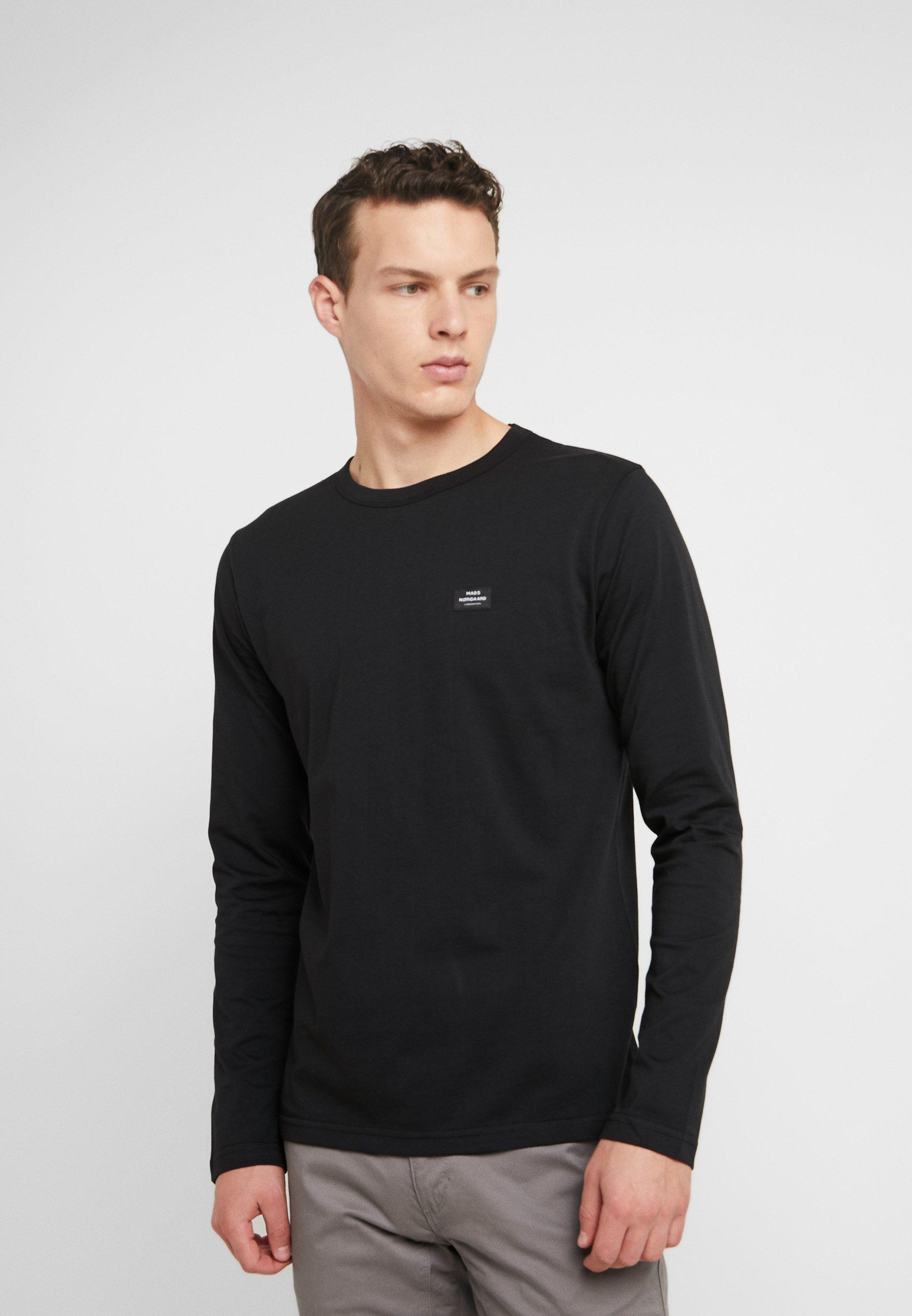 Mads Nørgaard MASSA TOVOLO - Bluzka z długim rękawem - black