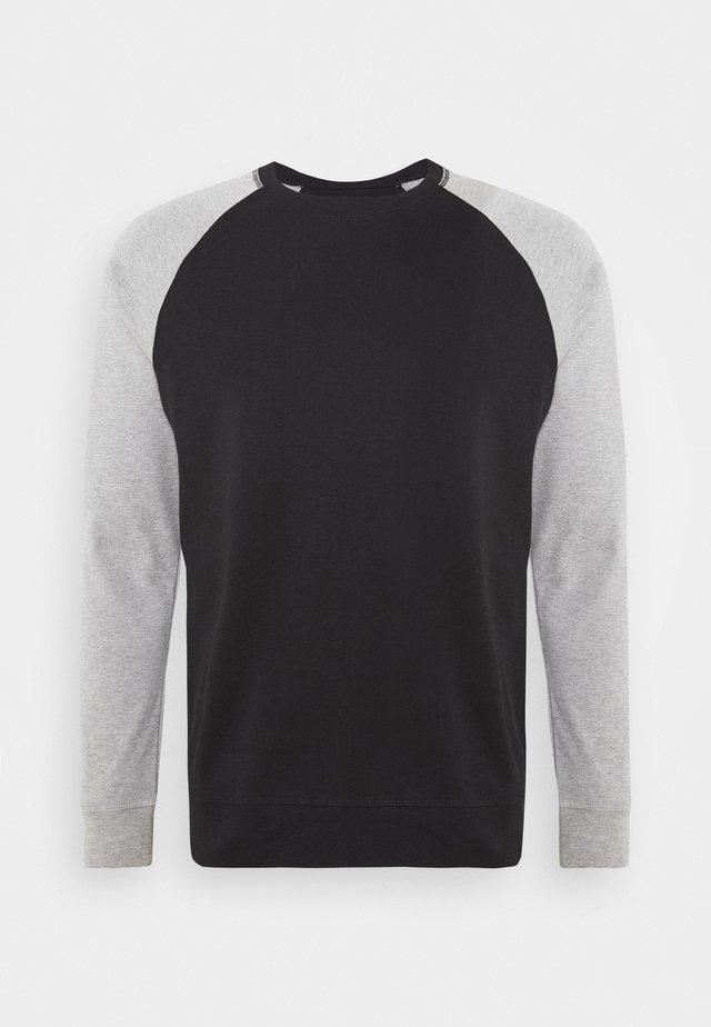 Sweatshirt - black - grey melange