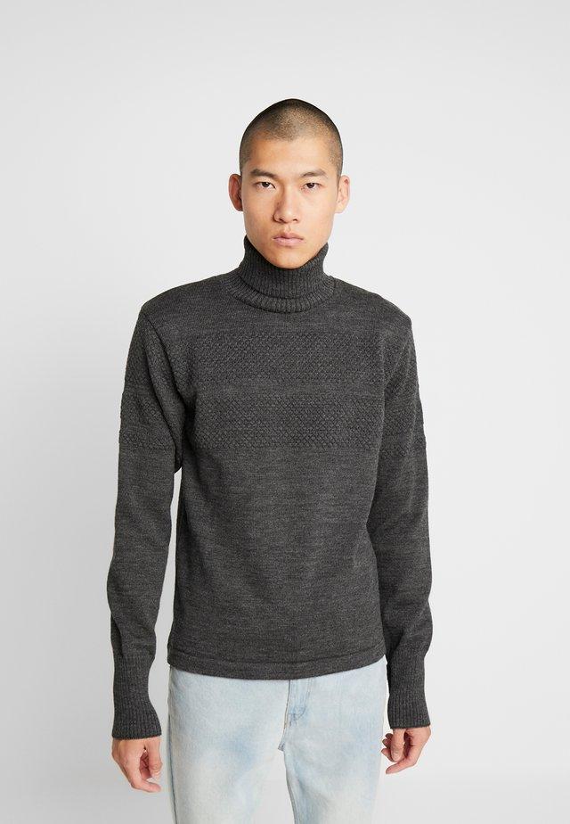 KLEMENS - Sweter - charcoal melange