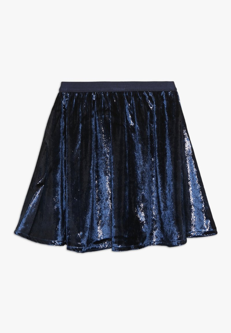 Mads Nørgaard - SHINY SWING SKYLINO - A-line skirt - navy
