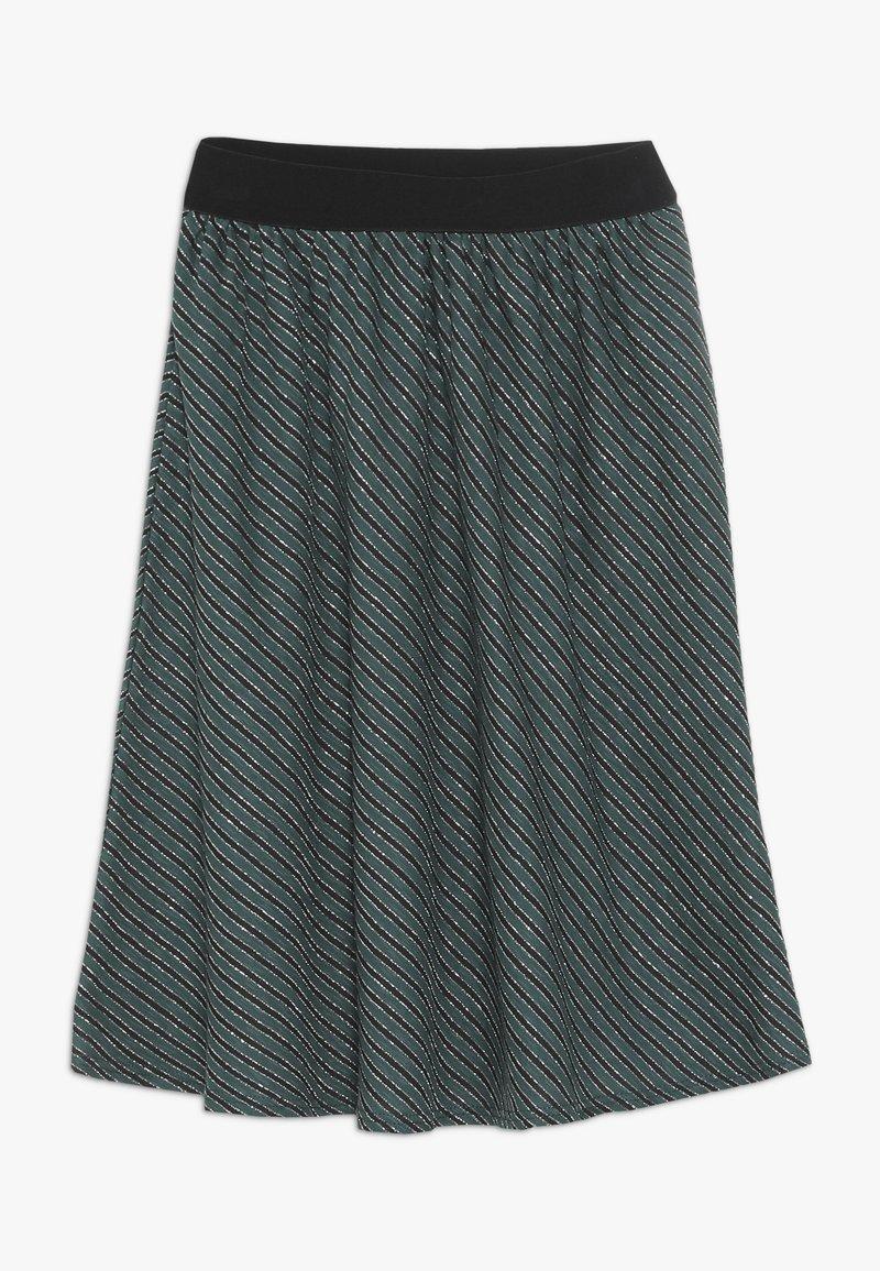 Mads Nørgaard - SAILOR GLAM SAGALINA - A-line skirt - black/petrol