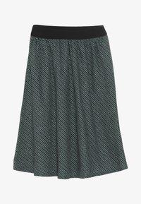 Mads Nørgaard - SAILOR GLAM SAGALINA - A-line skirt - black/petrol - 2