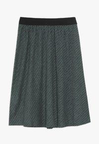 Mads Nørgaard - SAILOR GLAM SAGALINA - A-line skirt - black/petrol - 1