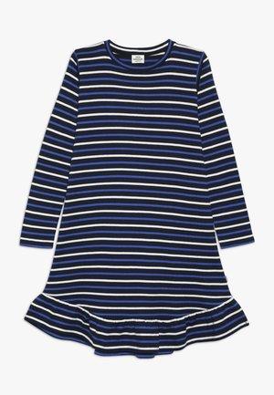 BRETAGNE DREAMINA LONG - Robe pull - navy/ecru/bright blue