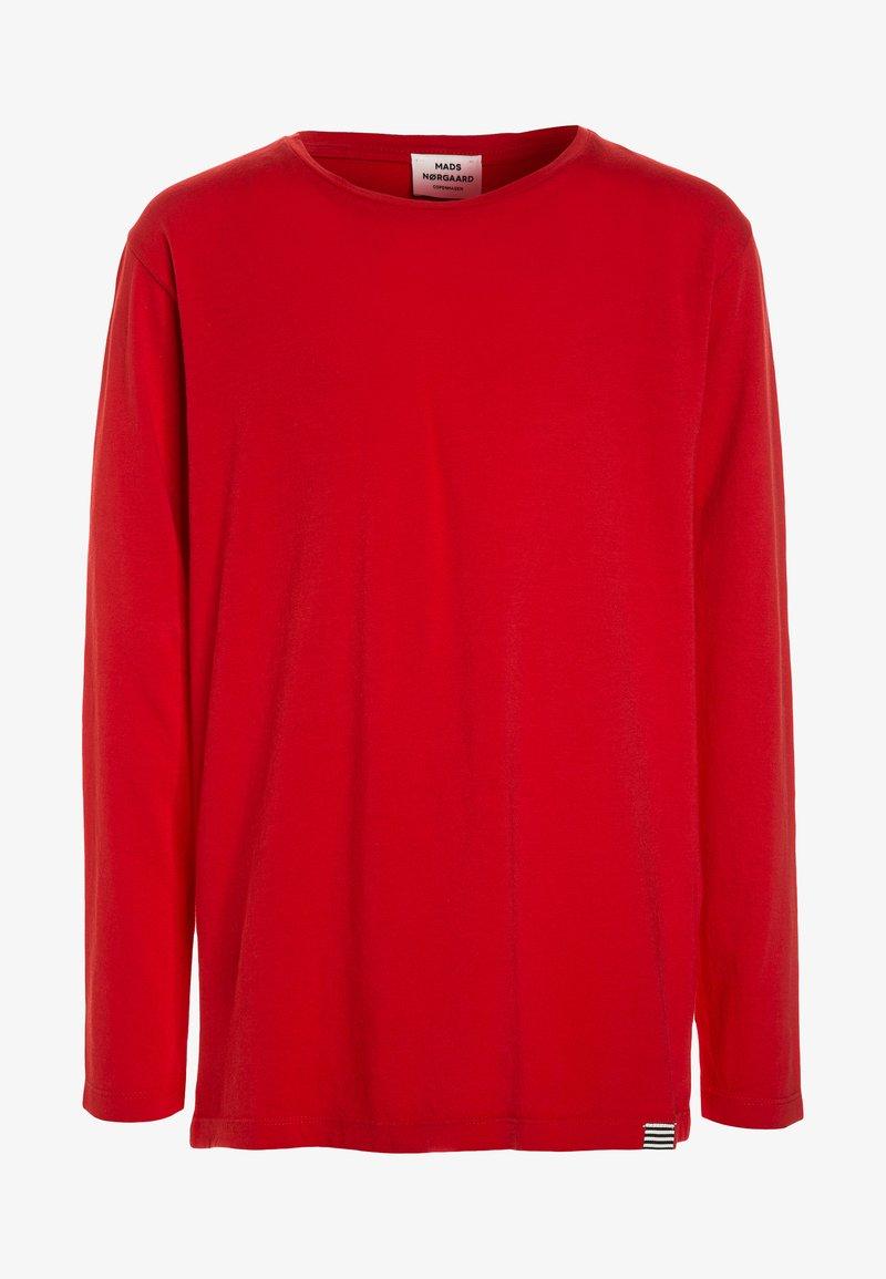 Mads Nørgaard - DIP TUVINA LONG  - Langærmede T-shirts - red