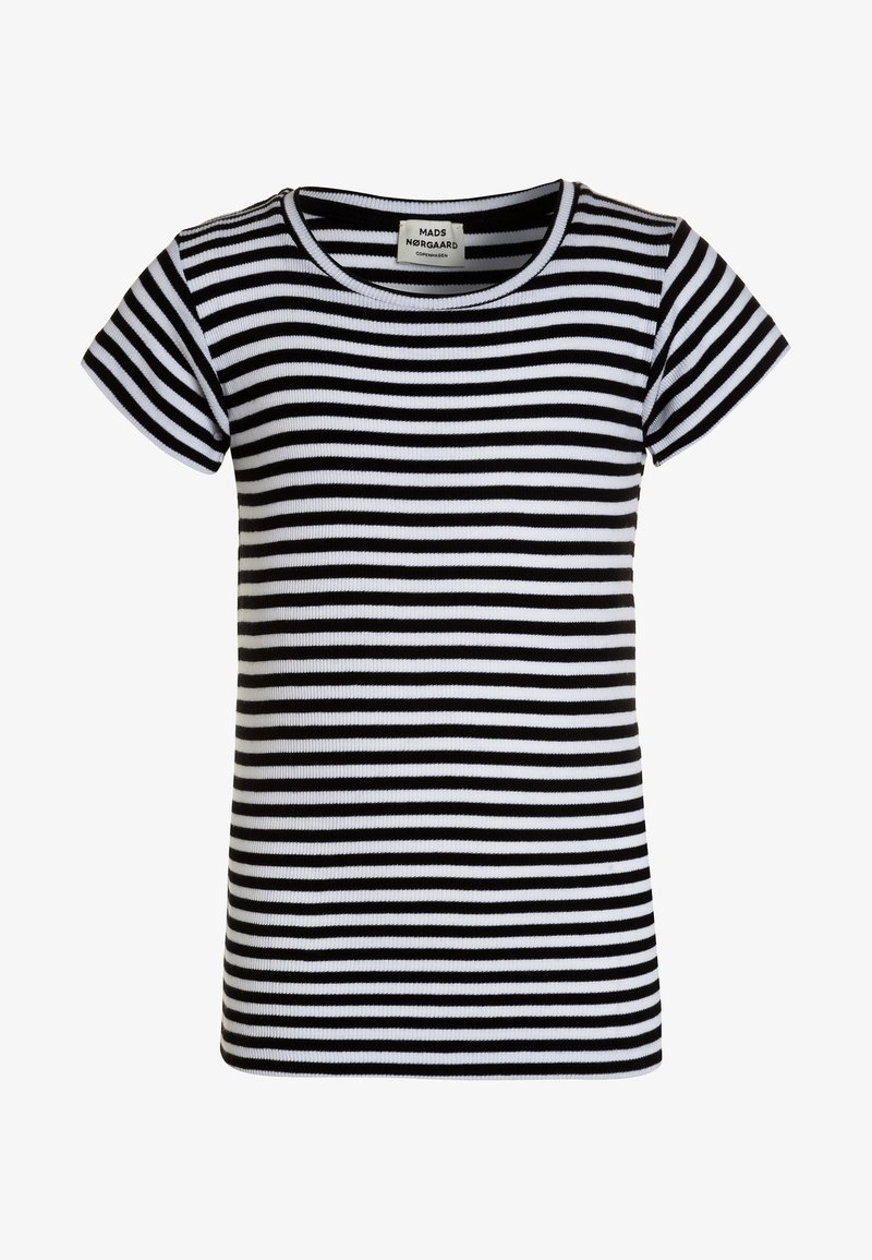 Mads Nørgaard - TUVINA - T-shirt print - black/white