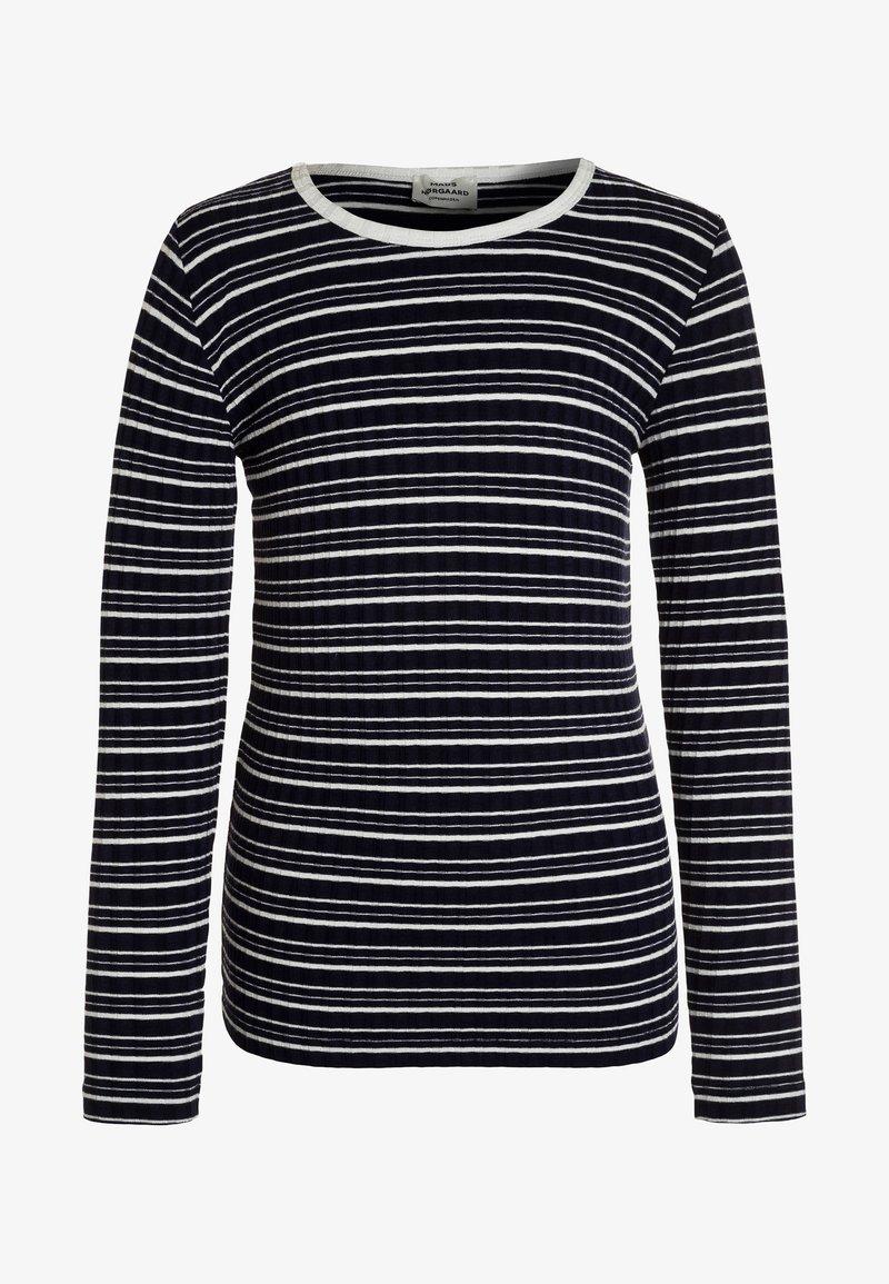 Mads Nørgaard - TALINO - Langærmede T-shirts - navy/ecru