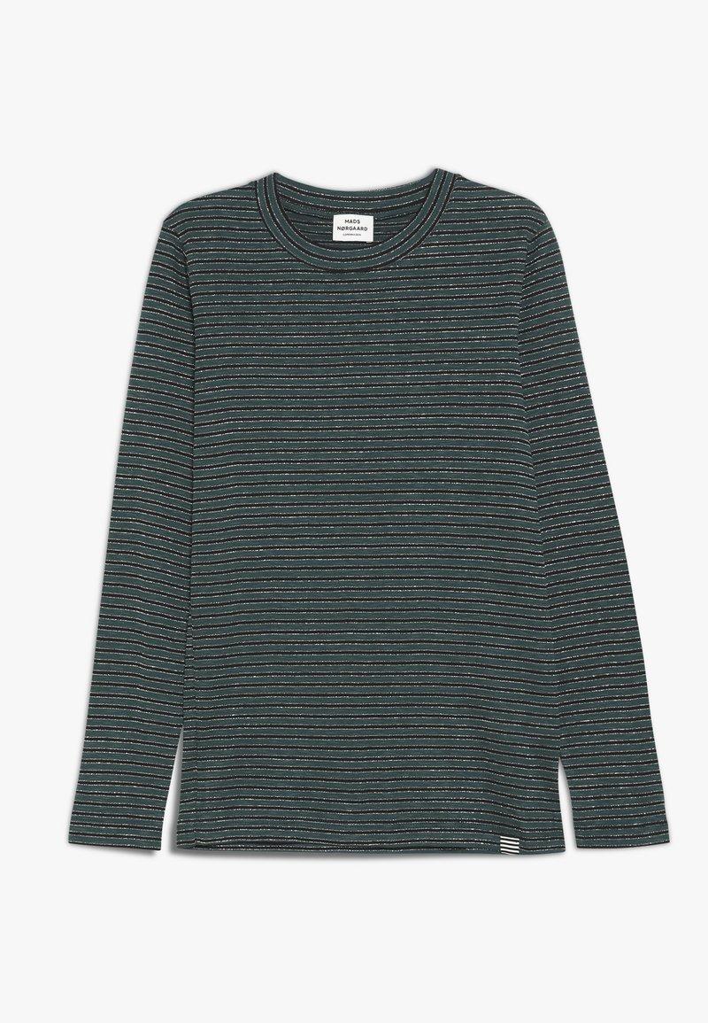 Mads Nørgaard - SAILOR GLAM TUVINA LONG  - T-shirt à manches longues - black/petrol