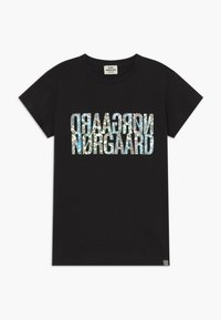 Mads Nørgaard - TUVINA PRINT - T-shirts print - licorice - 0