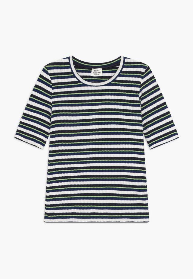 DREAM STRIPE TUVIANA - Triko s potiskem - navy