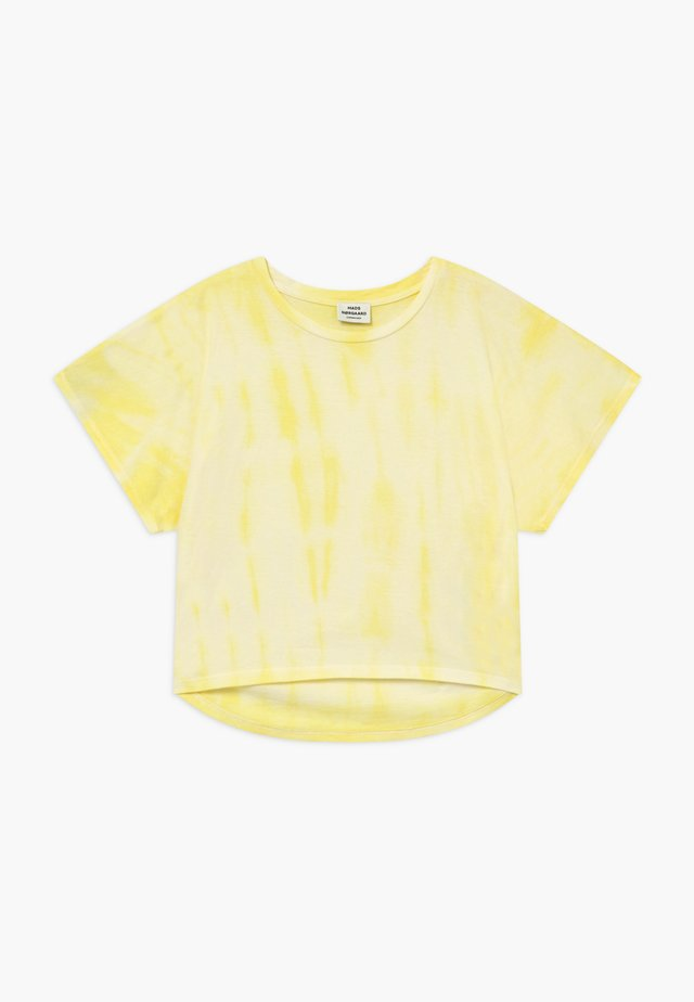 TOPININA - Print T-shirt - soft yellow