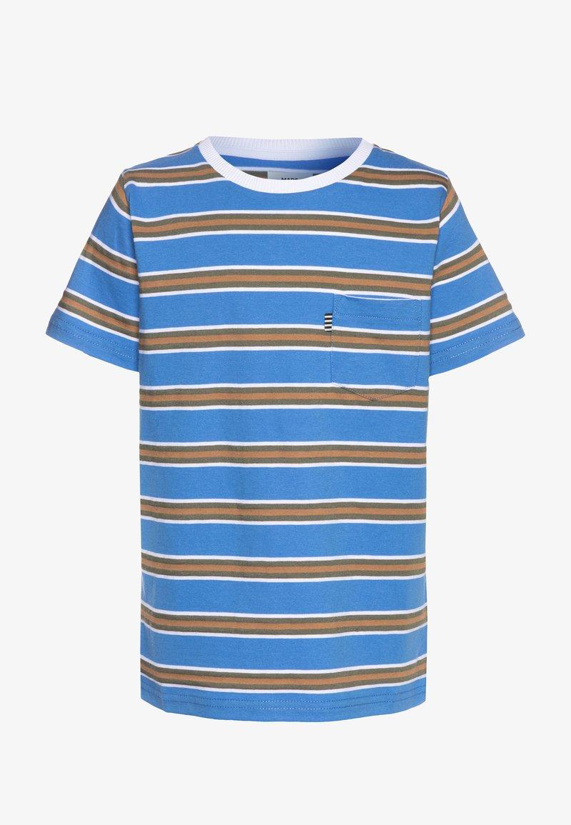Mads Nørgaard - SUMMER STRIPE TROLINO - T-shirts print - palace blue