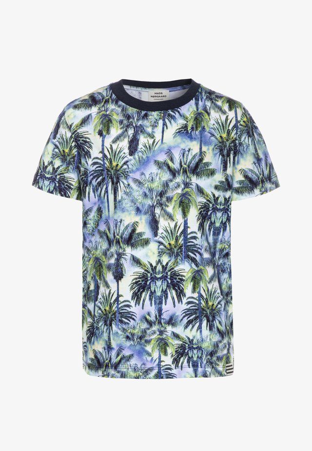 PALMERO THORLINO - T-shirts med print - navy
