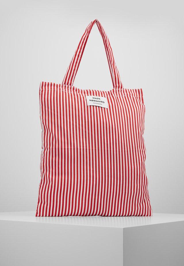 ATOMA - Shopping bags - red/white