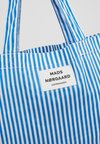 Mads Nørgaard - ATOMA - Shopping bag - blue/white