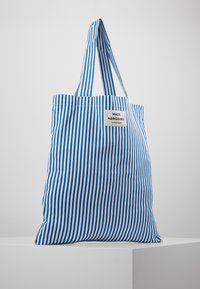 Mads Nørgaard - ATOMA - Shopping Bag - blue/white - 0