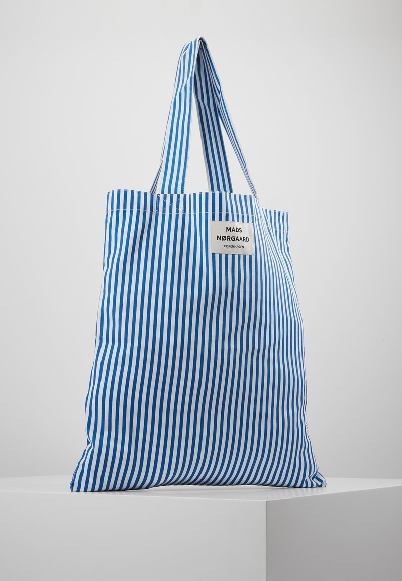 Mads Nørgaard - ATOMA - Shopping Bag - blue/white