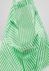 Mads Nørgaard - ATOMA - Shopping bag - white/green