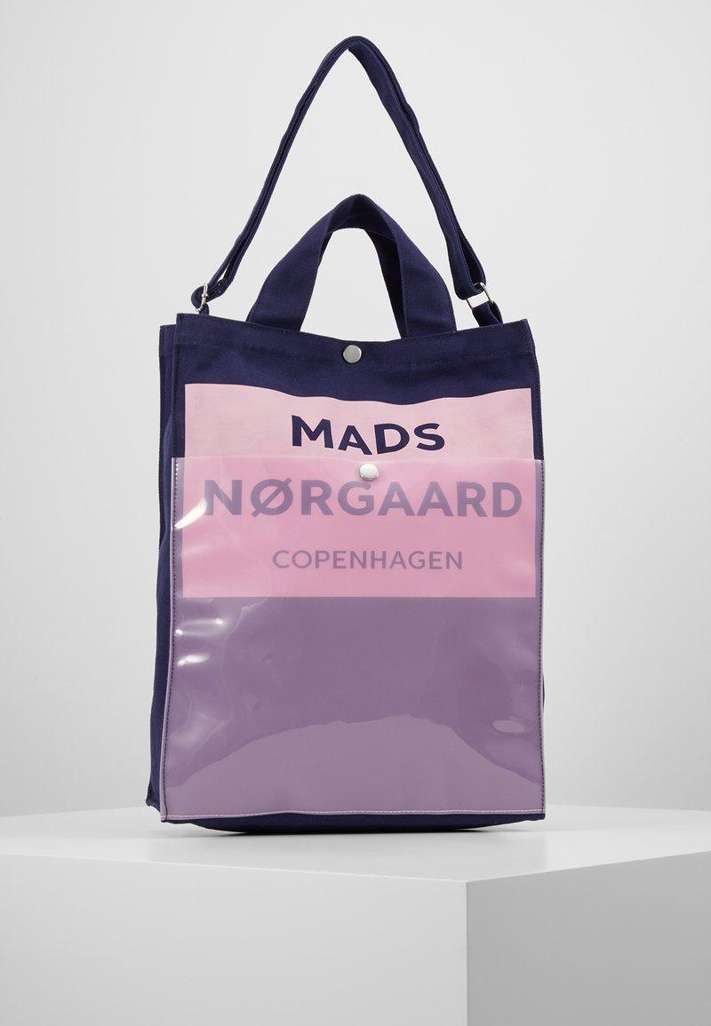 Mads Nørgaard - TÖTE BAG - Shopping bags - dark navy/soft rose