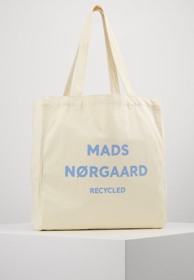 BOUTIQUE ATHENE - Shopping bag - off white/soft sky
