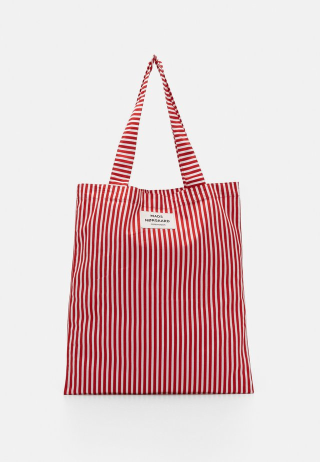 ATOMA - Shopping Bag - red/white