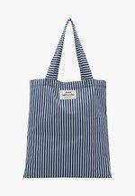 ATOMA - Tote bag - navy/white