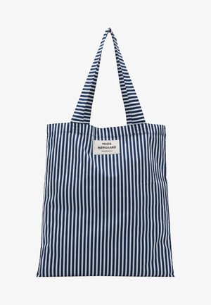 ATOMA - Tote bag - navy/white
