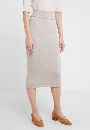 URUGUAY - Pouzdrová sukně - beige