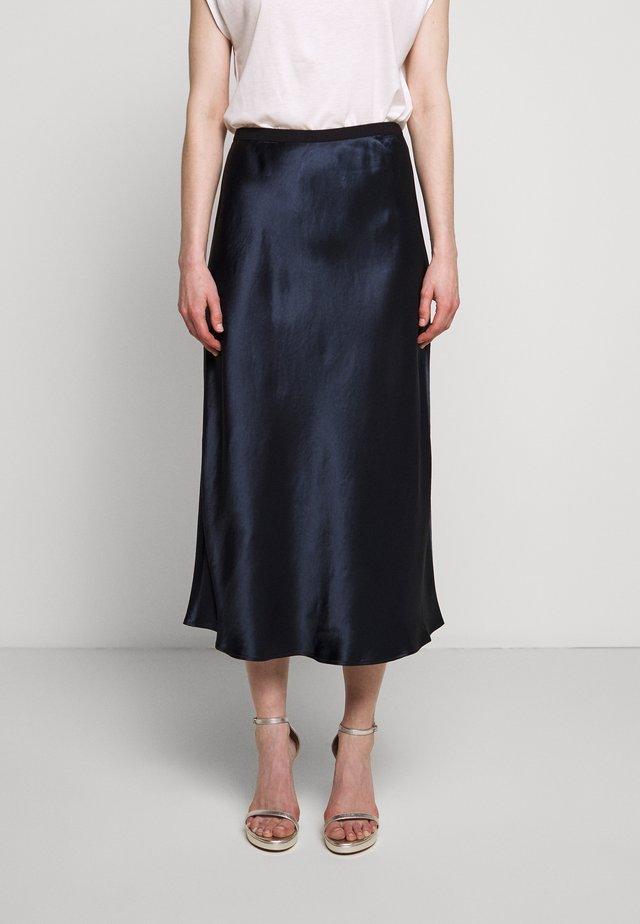 SEGNALE - Áčková sukně - navy