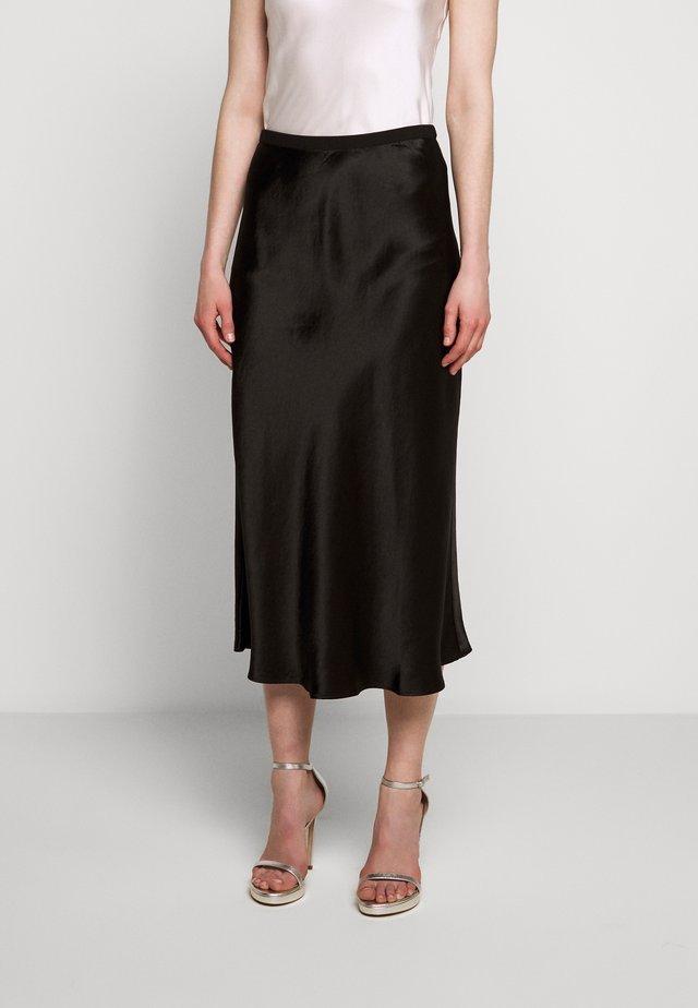 SEGNALE - Áčková sukně - black