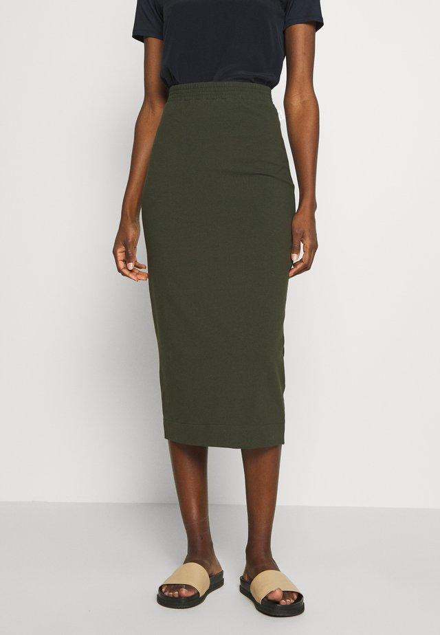 EIFFEL - Pouzdrová sukně - khaki