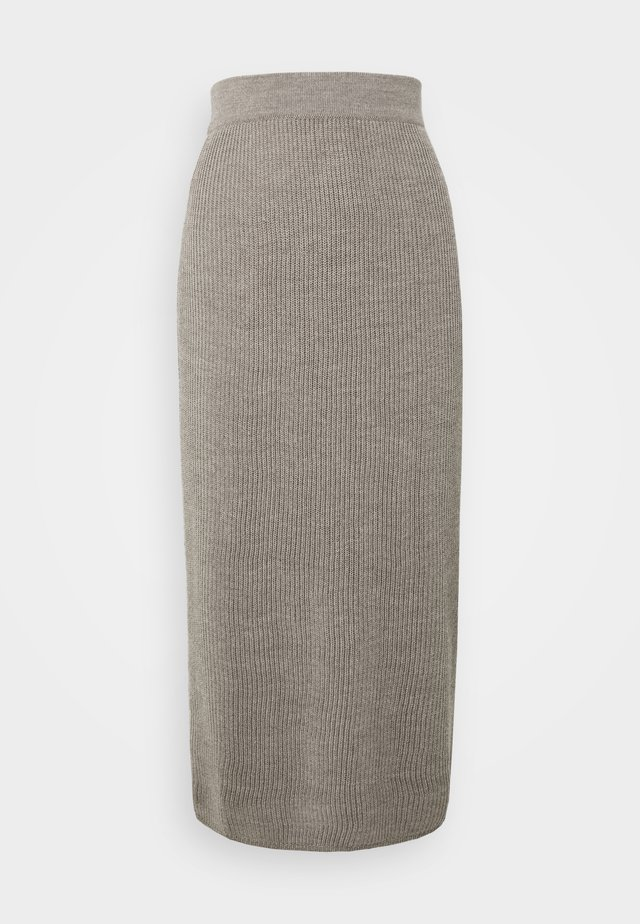 EMERSON - Pencil skirt - taubengrau