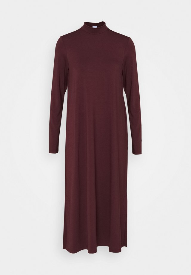 LARGE - Jersey dress - bordeaux