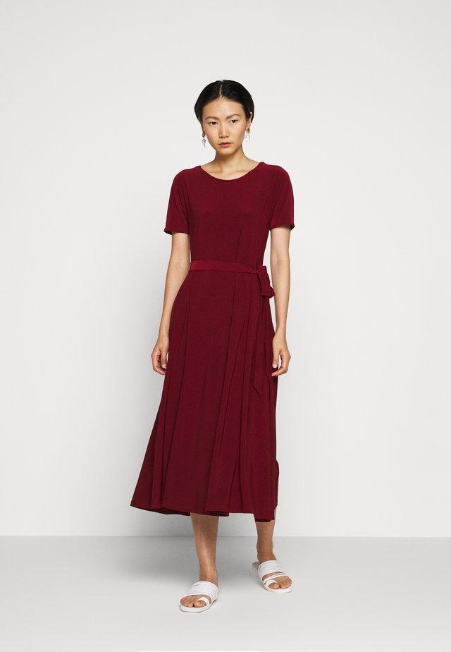GALENA - Jersey dress - ziegelrot rot