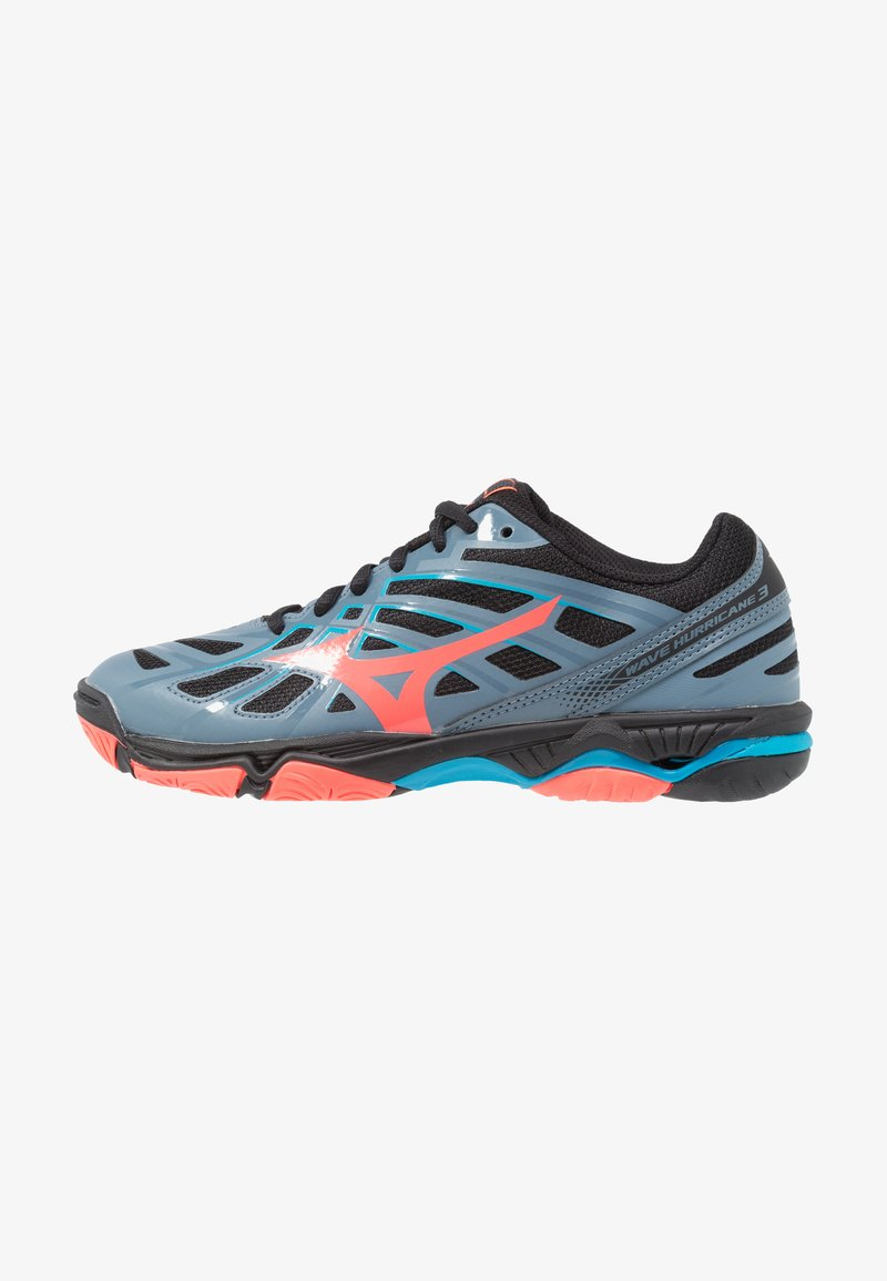 Mizuno - WAVE HURRICANE 3 - Volleyballschuh - blue mirage/fiery coral/black