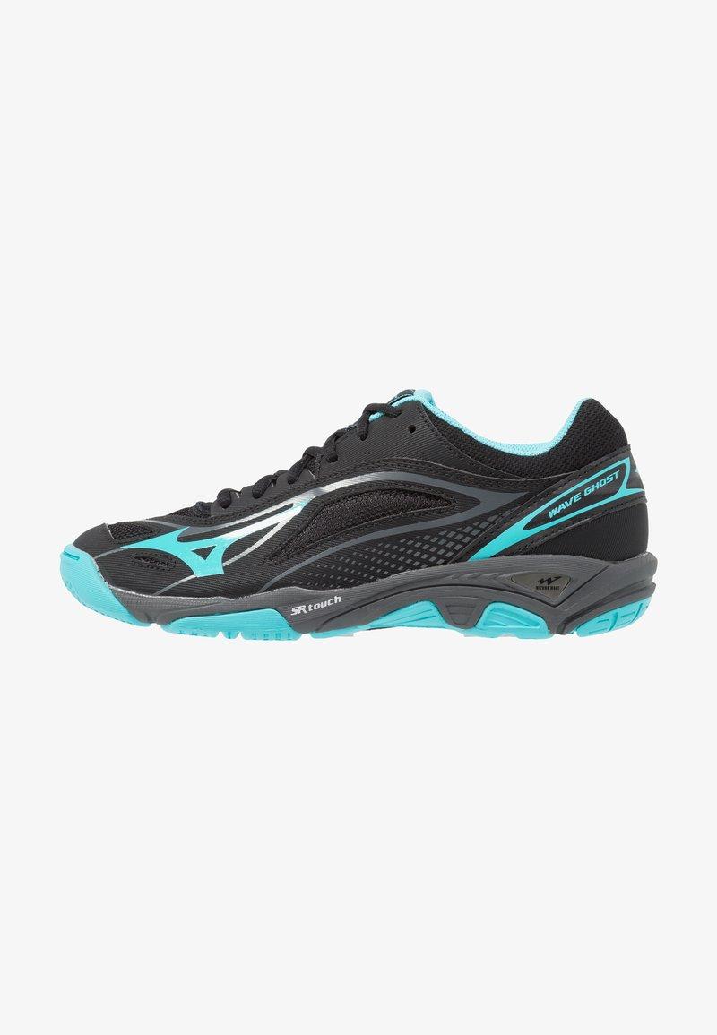 Mizuno - WAVE GHOST - Handball shoes - black/blue caracao/dark shadow