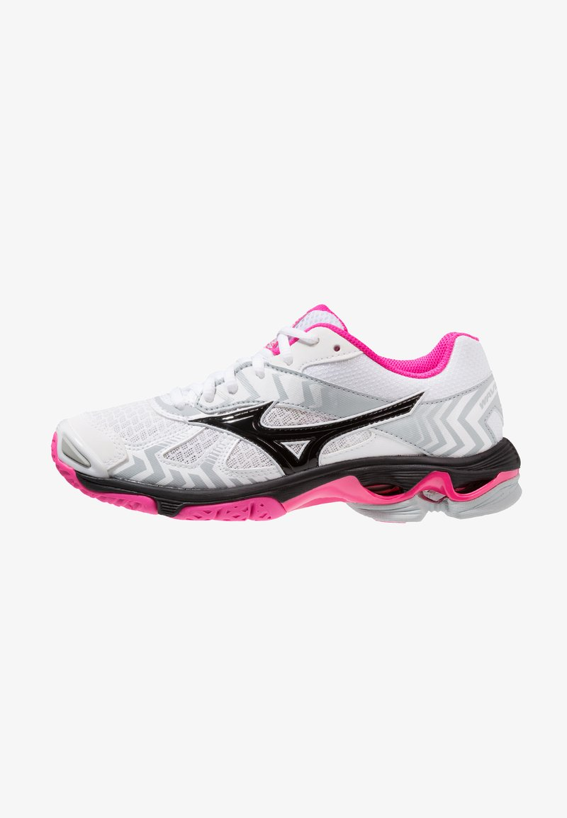 Mizuno - WAVE BOLT 7 - Volleyball shoes - white/black/pink glow
