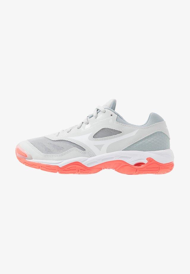 WAVE PHANTOM 2 - Handball shoes - glacier gray/white/fiery coral
