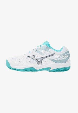 BREAK SHOT 2 CC - Tennisschoenen voor kleibanen - white/silver/blue curacao