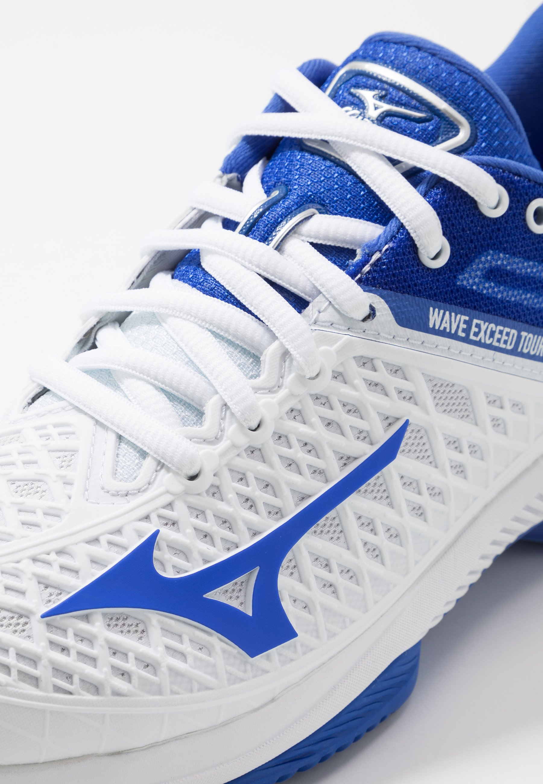 Mizuno Wave Exceed Tour 4 Cc - Tennisschoenen Voor Kleibanen White/dazzling Blue Goedkope Schoenen