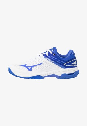 WAVE EXCEED TOUR 4 CC - Clay court tennis shoes - white/dazzling blue