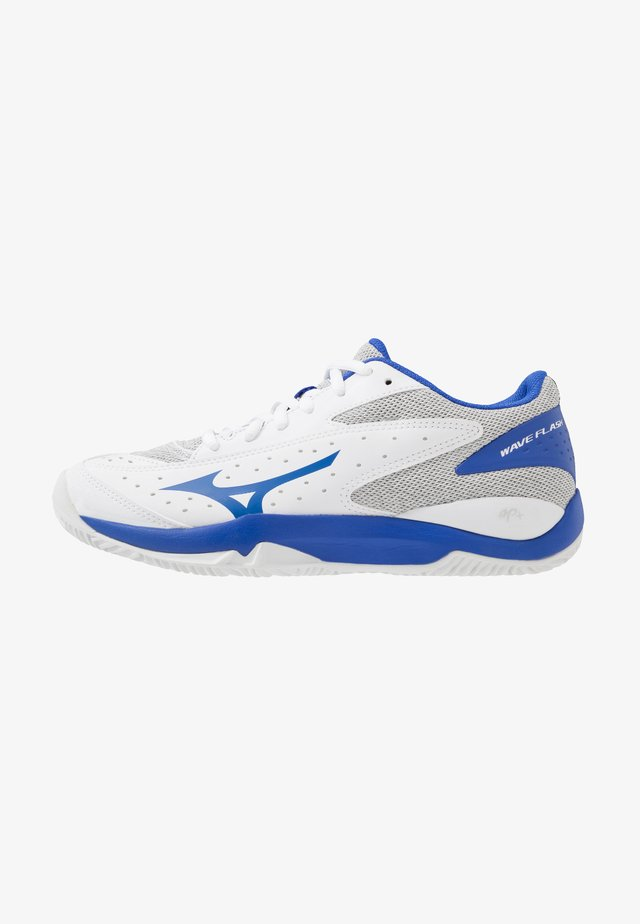 WAVE FLASH CC - Clay court tennis shoes - white/dazzling blue/high-rise