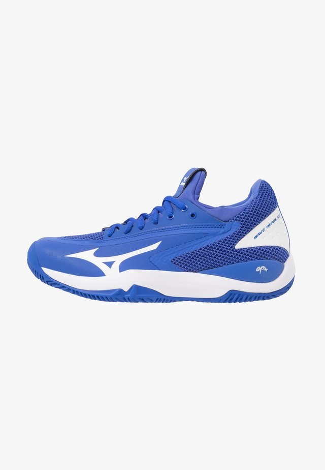 WAVE IMPULSE CC - Clay court tennis shoes - dazzling blue/white