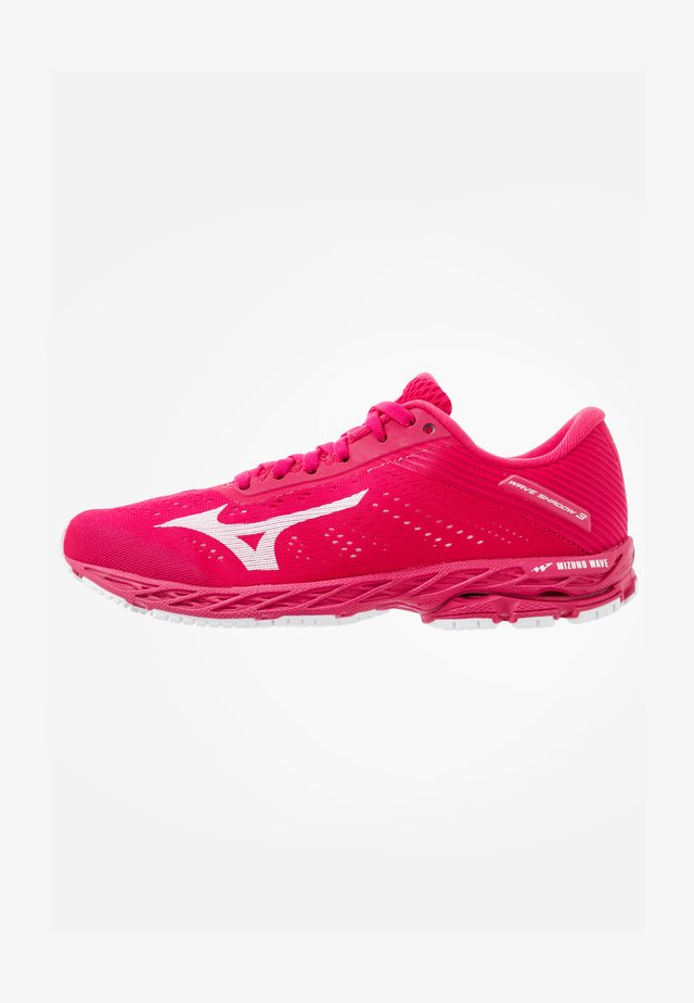 WAVE SHADOW 3 - Neutral running shoes - rose red/white