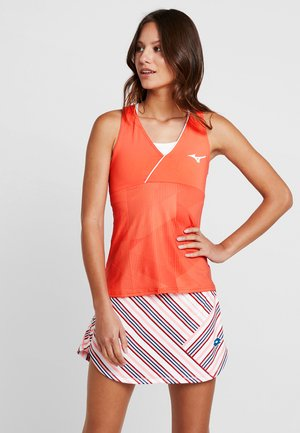 PRINTED TANK - Toppe - hot coral