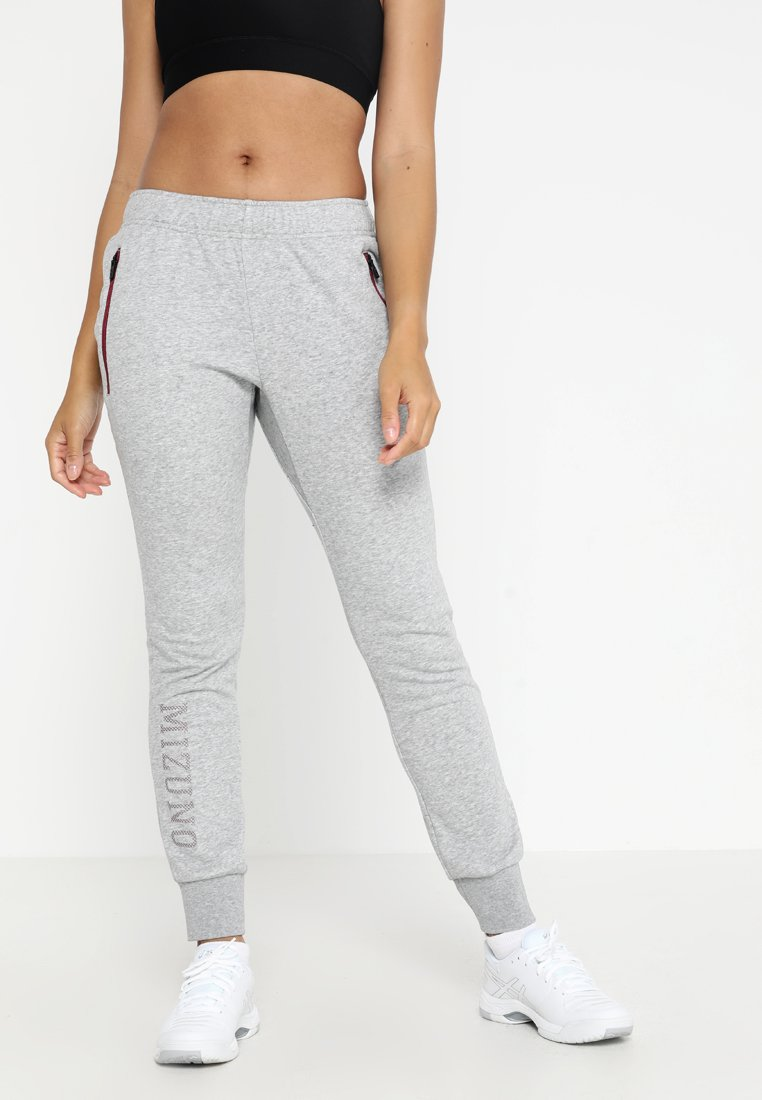 Mizuno - HERITAGE PANT - Pantalon de survêtement - heather grey