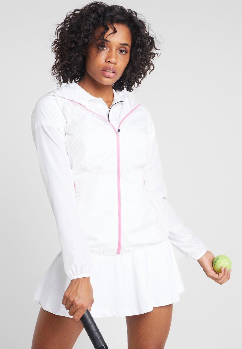 Mizuno - PRINTED HOODY JACKET - Sportovní bunda - white