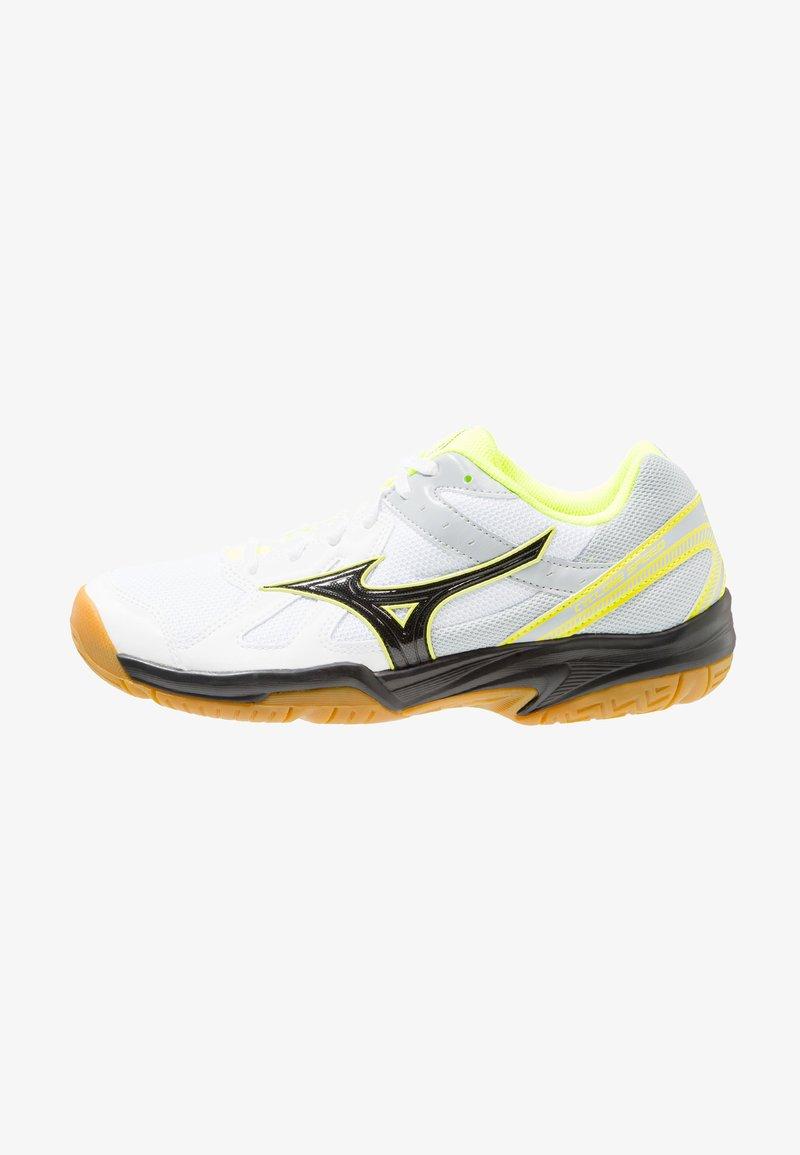 Mizuno - CYCLONE SPEED - Volleyballschuh - white/black/safety yellow