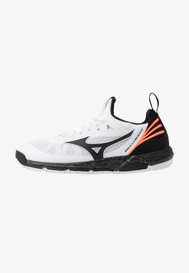 WAVE LUMINOUS - Volleyball shoes - white/black/orange clown fish