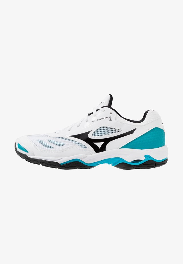 WAVE PHANTOM 2 - Chaussures de handball - white/black/enamel blue